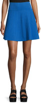 Opening Ceremony Vertical-Stitch Flare Skirt, Blue Currant