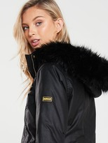 Barbour International Ballacraine Wax Jacket - Black