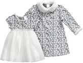 Youngland Gray & White A-Line Dress & Gray Jacket - Infant, Toddler & Girls