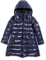 Moncler Moka Down Puffer Coat, Dark Blue, Size 4-6