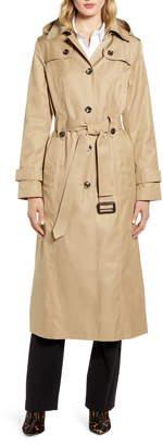 London Fog Long Hooded Trench Coat