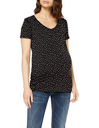 Noppies Women's Tee Ss V Neck Rome Maternity T-Shirt,(Size: Small)