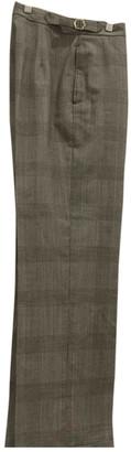 Officine Generale Black Wool Trousers