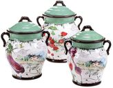 Certified International Villa 3-pc. Ceramic Canister Set