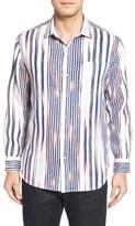 Tommy Bahama Men's Big & Tall Brush Stroke Breezer Linen Sport Shirt