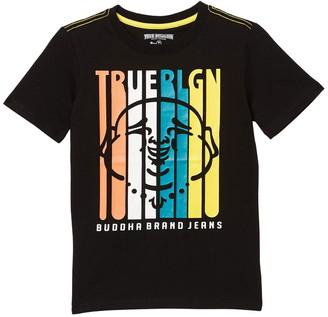 True Religion Brand Logo Surfboard Print T-Shirt