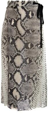 Prada Bow Detail Maxi Skirt