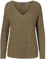Polo Ralph Lauren Cotton-Linen V-Neck Sweater