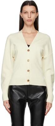 DRAE Off-White Wool Oversized Cardigan