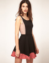 Oh My Love Toni Mesh Panel Sleeveless Body