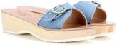 Ancient Greek Sandals Filia Sabot Denim Platform Slip-on Sandals