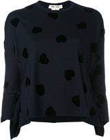 Comme des Garcons heart pattern jumper - women - Wool - S