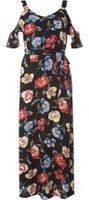 Dorothy Perkins Womens Petite Multi Floral Frill Maxi Dress- Fl Multi