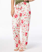 Hue Rose-Print Pajama Pants