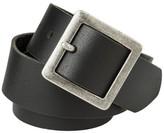 Mossimo Women's Leather Pilgrim Buckle Belt - Black