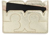 Tory Burch Women's Scallop-T Leather Card Case - Pink