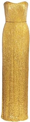 Jenny Packham Strapless Beaded Gown