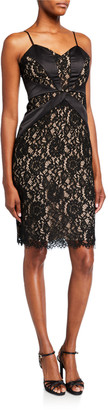 Parker Black Mia Sweetheart Lace Combo Dress