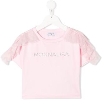 MonnaLisa Logo Short-Sleeve Top
