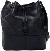 Shinola Convertible Drawstring Leather Bucket Bag