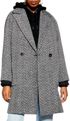 Topshop Odell Herringbone Coat
