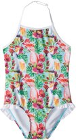 Snapper Rock Girls' Tropical Birds Halter One Piece Swimsuit (2T16) - 8155098