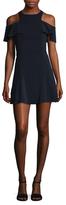 Jay Godfrey Walter Cold Shoulder Mini Dress