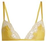 Carine Gilson Lace-trimmed silk-satin soft-cup bra