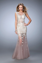 La Femme 21565 Enchanting Lacy Illusion Mermaid Gown