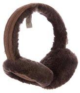 UGG Suede-Accented Shearling Earmuffs