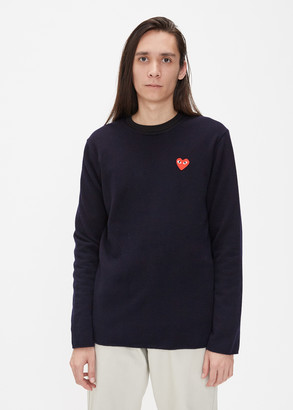 Comme des Garcons Red Heart Crew Neck Sweater