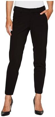 Liverpool Kelsey Slim Leg Trousers in Super Stretch Ponte Knit (Black) Women's Casual Pants