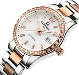 Carnival Women's Analog Luminous and Bezel Inlay Rhinestones Fashion Automatic Mechanical Rose Gold Female Watch