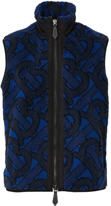 Burberry Jacquard Logo Fleece Gilet