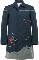Thom Browne nautical embroidery coat - men - Nylon/Polyurethane/Cupro/Wool - 0