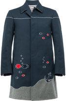 Thom Browne nautical embroidery coat - men - Nylon/Polyurethane/Cupro/Wool - 00