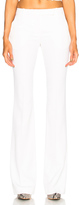 Alexander McQueen Narrow Bootcut Trousers in White.