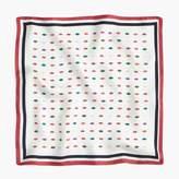 J.Crew Italian silk scarf in smooch print