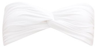Sara Cristina Wave Bandeau Bikini Top - White