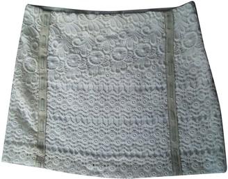Maje Ecru Cotton Skirt for Women