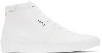 HUGO BOSS White Zero High-Top Sneakers