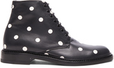 Saint Laurent Leather Polka Dots Lolita Boots