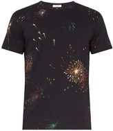 Valentino Firework-print cotton-jersey T-shirt