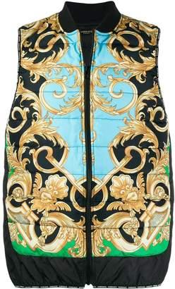 Versace Baroque printed padded gilet