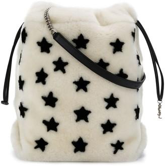 Saint Laurent Talitha star-print bucket bag