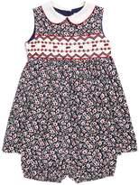 Rachel Riley Floral Smock Dress