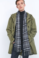 Urban Outfitters Grey Plaid Scarf