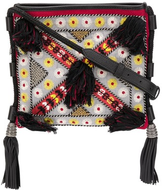 Etro Embroidered Tassel Crossbody Bag