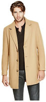 GUESS Men's Kent Wool-Blend Topcoat