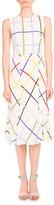 Mary Katrantzou Osmond Grid-Print A-Line Dress